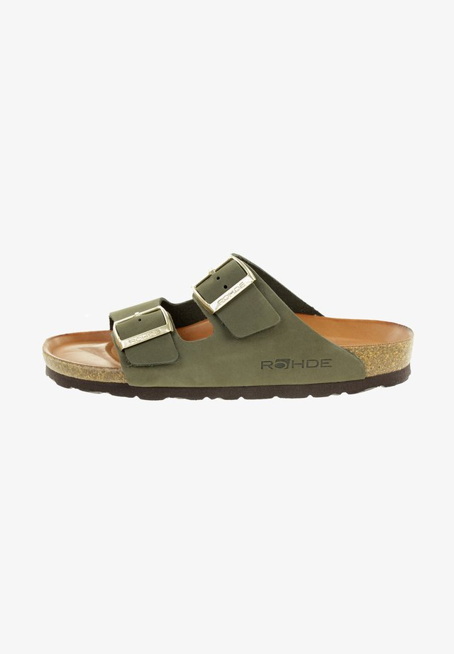 Mules - olive