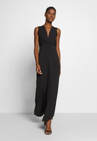 Anna Field - BASIC - FRONT KNOT MAXI DRESS - Maxi dress - black - 0