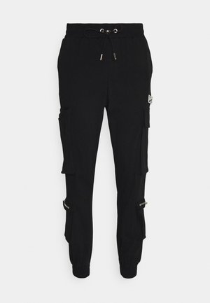REGULAR CUFFED JOGGER WITH REFLECTIVE DETAILS - Cargobroek - black