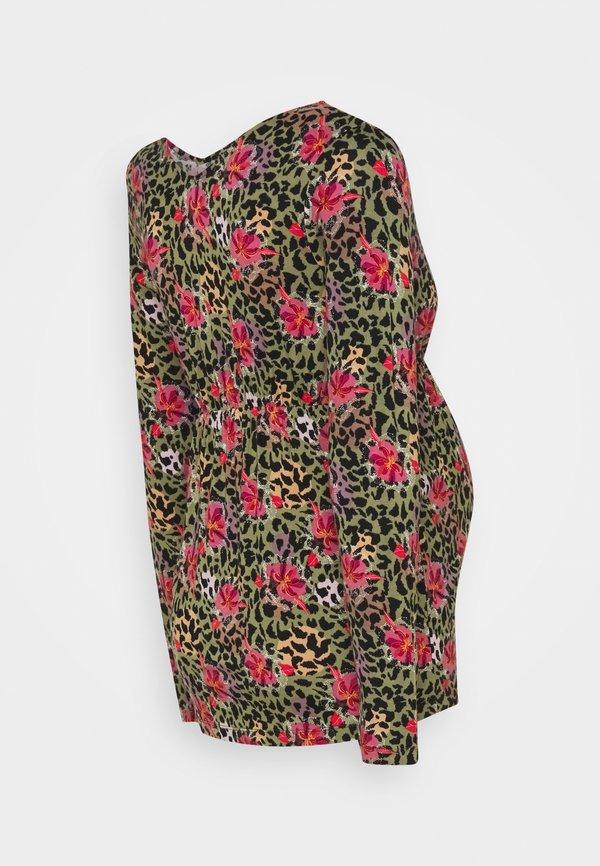 MAMALICIOUS TESS - T-shirt z nadrukiem - aloe/flower aop/rÓżowy GGZR