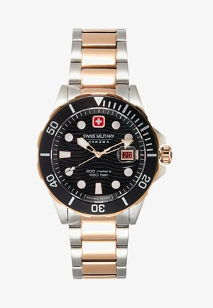 OFFSHORE DIVER - Hodinky - black/silver-coloured/rose gold-coloured