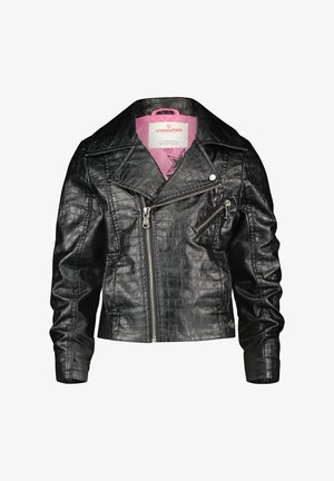Faux leather jacket - deep black