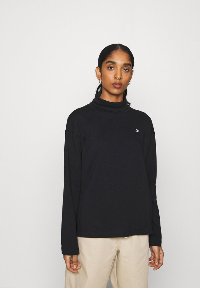 HIGH NECK - Maglietta a manica lunga - black