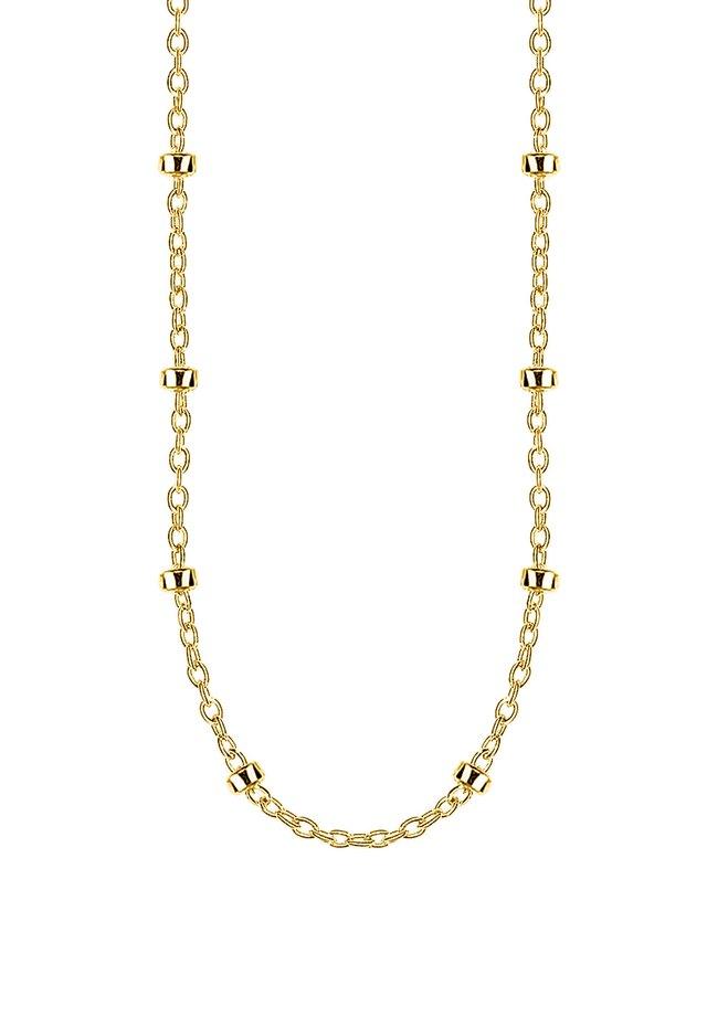 THOMAS SABO ERBSKETTE GELBGOLD 925 STERLINGSILBER, 750 GELBGOLD  - Necklace - gelbgoldfarben