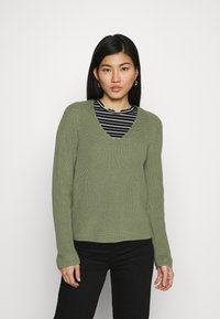 Marc O'Polo - LONG SLEEVE - Jumper - dried sage - 0
