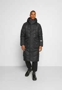 G-Star - UTILITY QUILTED EXTRA LONG PARKA - Winter coat - namic lite black - 0