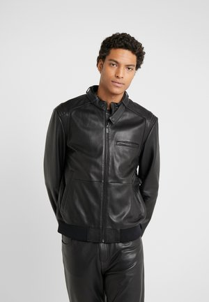 LUTWIN  - Leather jacket - black