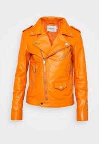 Deadwood - RIVER - Leather jacket - persimmon - 3