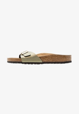 MADRID - Sandalias planas - icy metallic stone gold
