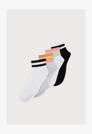 ANCLE STRIPE 4 PACK - Chaussettes - white