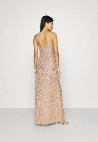 Maya Deluxe - DELICATE SEQUIN DRESS WITH DETACHABLE CAPE - Iltapuku - taupe blush - 5