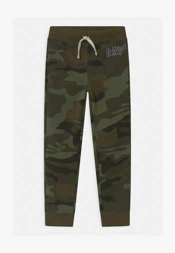BOY HERITAGE LOGO  - Spodnie treningowe - green