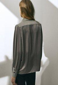 Massimo Dutti - Button-down blouse - silver - 1