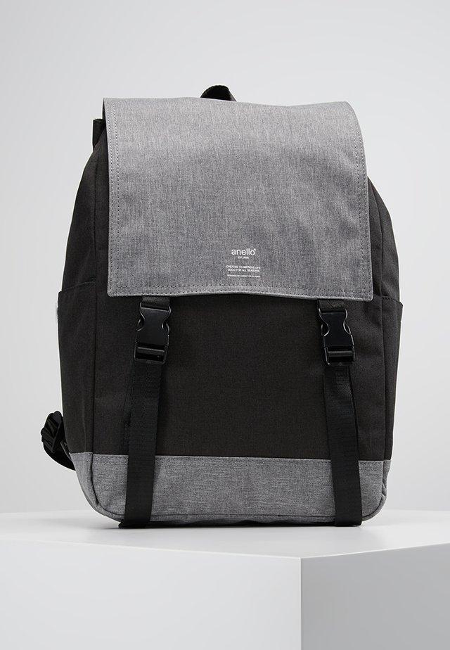 SLIM FLAP BACKPACK UNISEX - Batoh - black grey