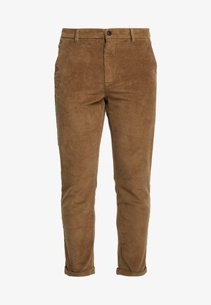 CROPPED PANTS - Trousers - sand