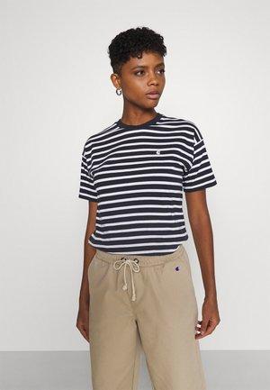 ROBIE - Print T-shirt - dark navy/white