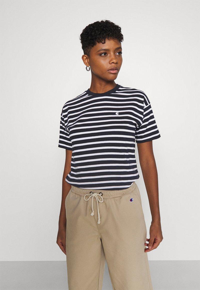 Carhartt WIP - ROBIE - Print T-shirt - dark navy/white