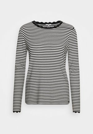 SCALLOP EDGE - Jumper - black/white