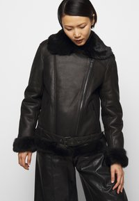STUDIO ID - BIKER JACKET - Leather jacket - black/dark grey - 4