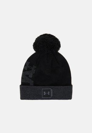 BIG POM LOGO BEANIE - Bonnet - black