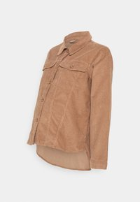 Pieces Maternity - PCMPOLLY SHACKET - Button-down blouse - warm taupe - 4