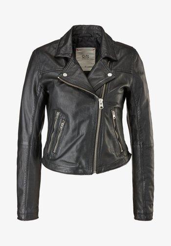 VESTE - Leather jacket - black