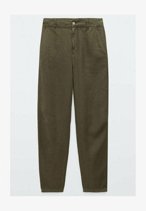 RELAXED-FIT - Trousers - green