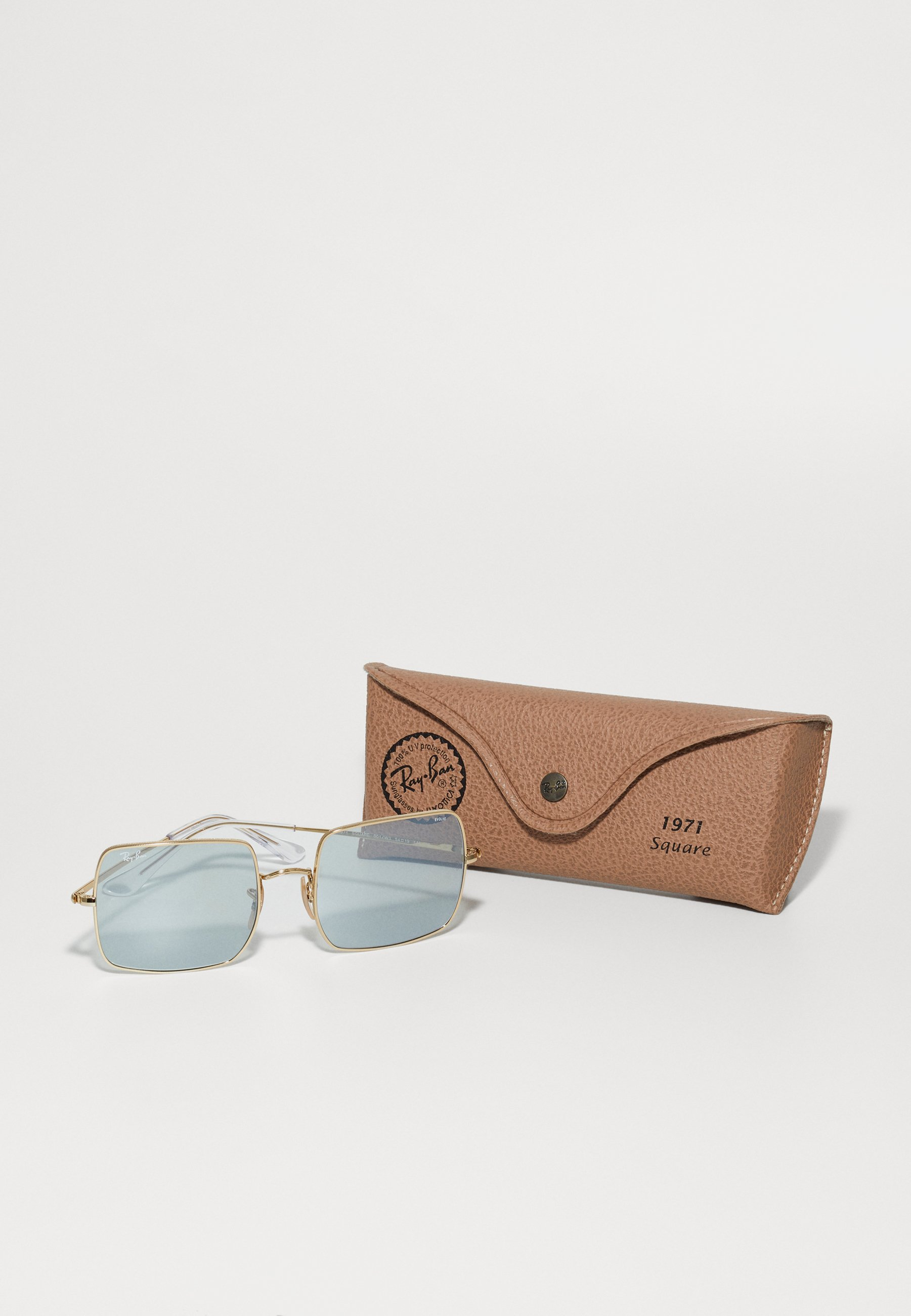 Ray-Ban SQUARE - Solbriller - shiny gold-coloured/gull 7Iu980yISu7i1D7