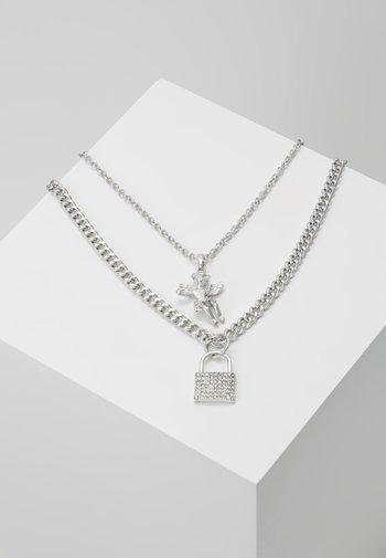 CHERUB PADLOCK 2 PACK - Necklace - silver-coloured