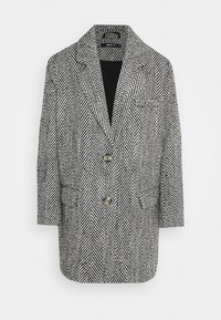 LINNEA COAT - Classic coat - black/white