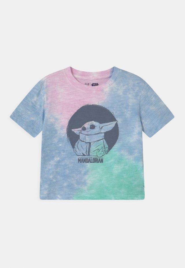 GIRL MANDOLORIAN THE CHILD STAR WARS - T-shirt med print - purple