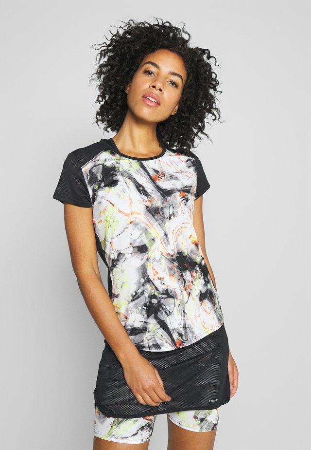 SAMMY - T-shirt print - caleido grey/black