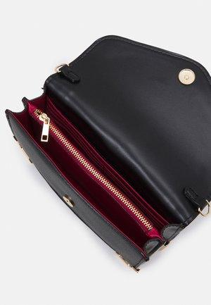 Across body bag - jet black/light gold-coloured