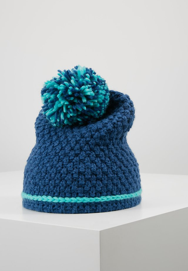 GIRLS HEMSEDAL BOBBLE CAP - Bonnet - midnight blue/dark mint