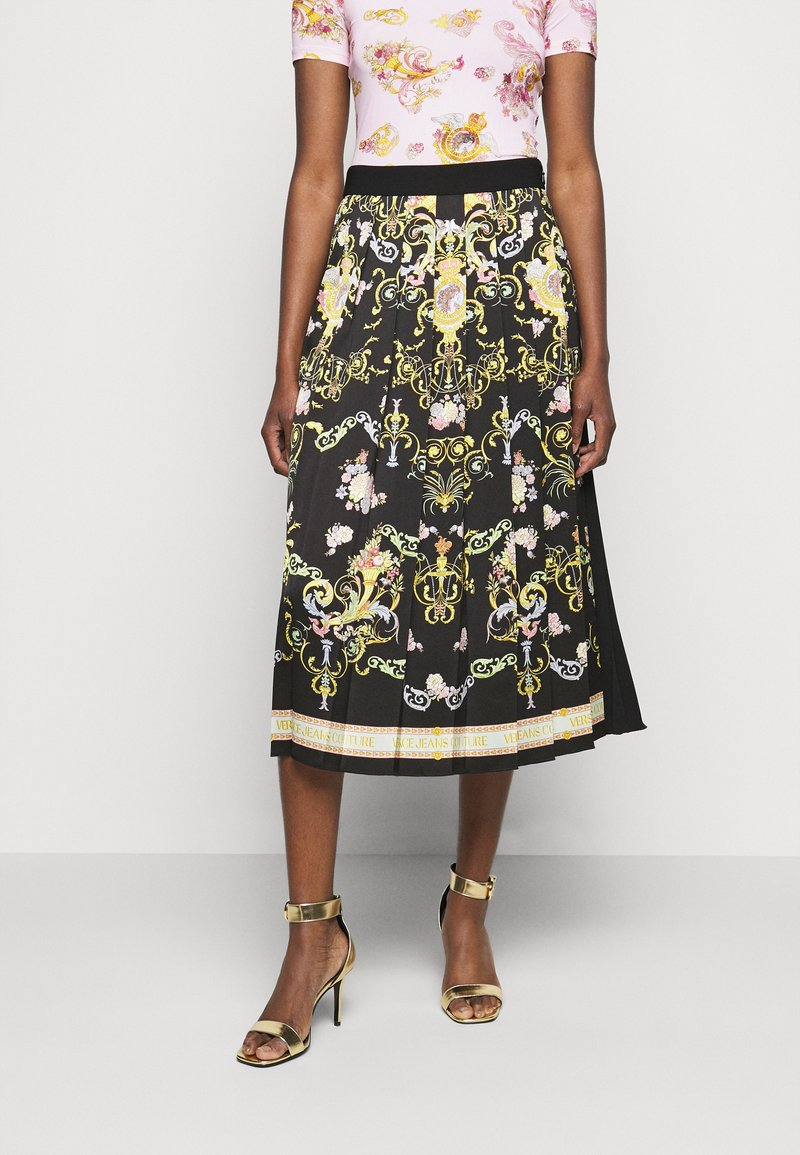 Versace Jeans Couture - LADY SKIRT - Pleated skirt - black