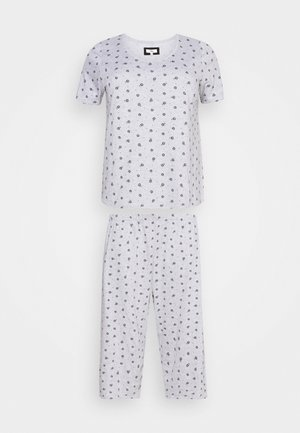 FLORAL AND SPOT CROPPED - Pijama - grey