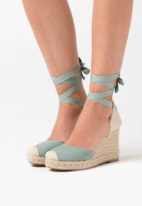 New Look - TRINIDAD  - High heeled sandals - mint green - 0