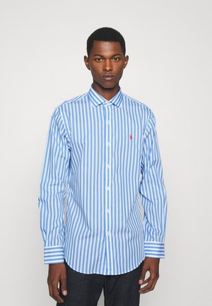 SLIM FIT STRIPED POPLIN SHIRT - Camicia - light blue/white