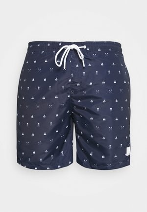 PATTERN SWIM - Swimming shorts - dark blue