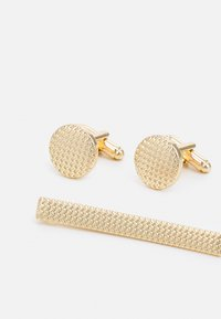Burton Menswear London - ETCHE CUFFLINK SET - Kalvosinnapit - gold-coloured - 2
