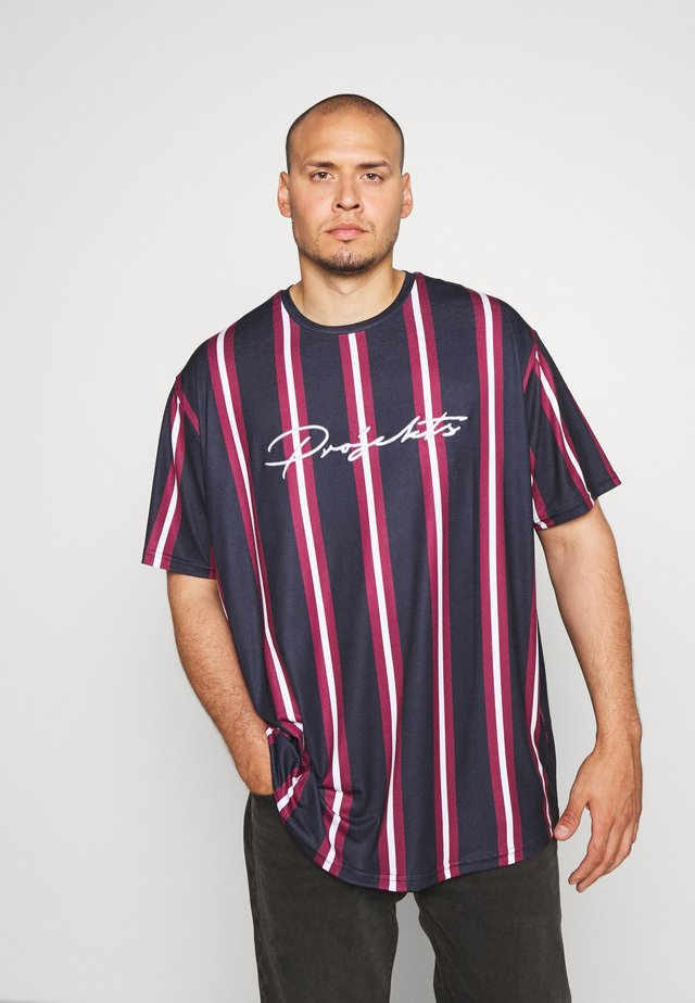 NYC STRIPED MCRAE T-SHIRT - T-shirt con stampa - navy