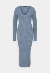 Missguided - FLUFFY MIDAXI DRESS - Strikket kjole - blue - 0