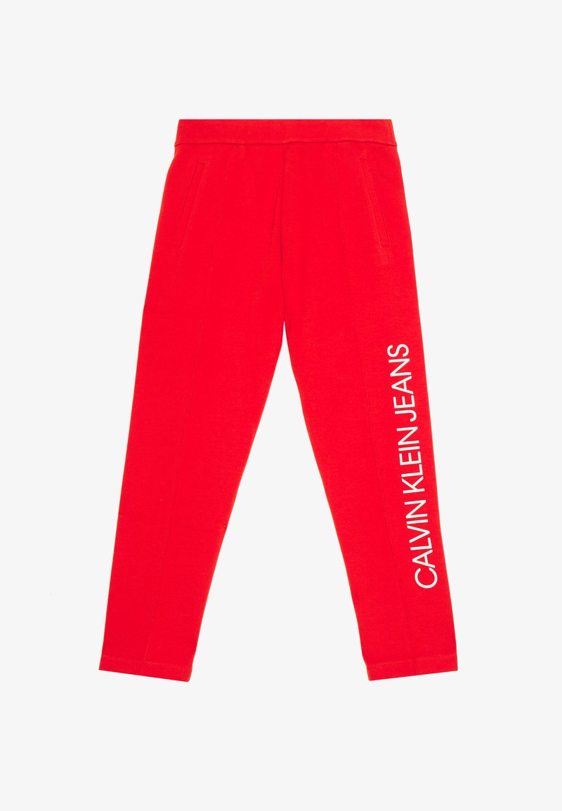 Calvin Klein Jeans - INSTITUTIONAL PANT - Tracksuit bottoms - fiery red