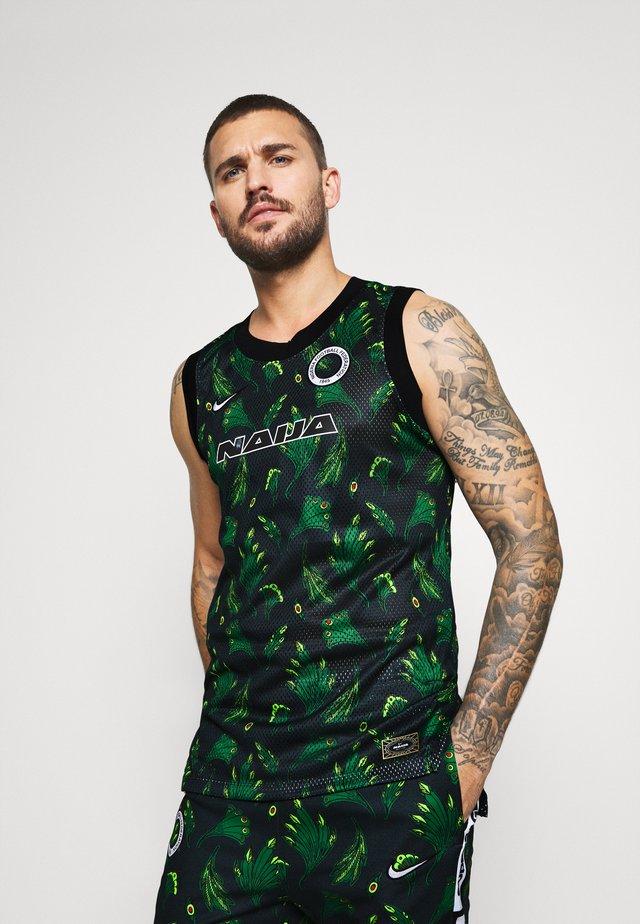 NIGERIA  - Koszulka sportowa - pine green/black