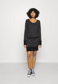 Ragwear - ALEXA - Day dress - black - 1