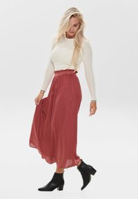 ONLY - Pleated skirt - cowhide - 1