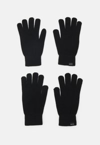 Jack & Jones - JACSONNY GLOVES 2 PACK - Rukavice - black - 0