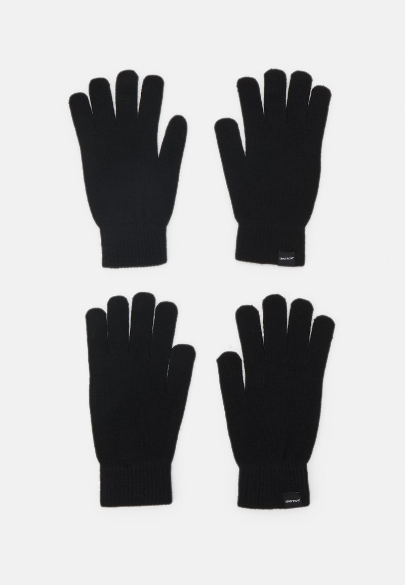 Jack & Jones - JACSONNY GLOVES 2 PACK - Rukavice - black