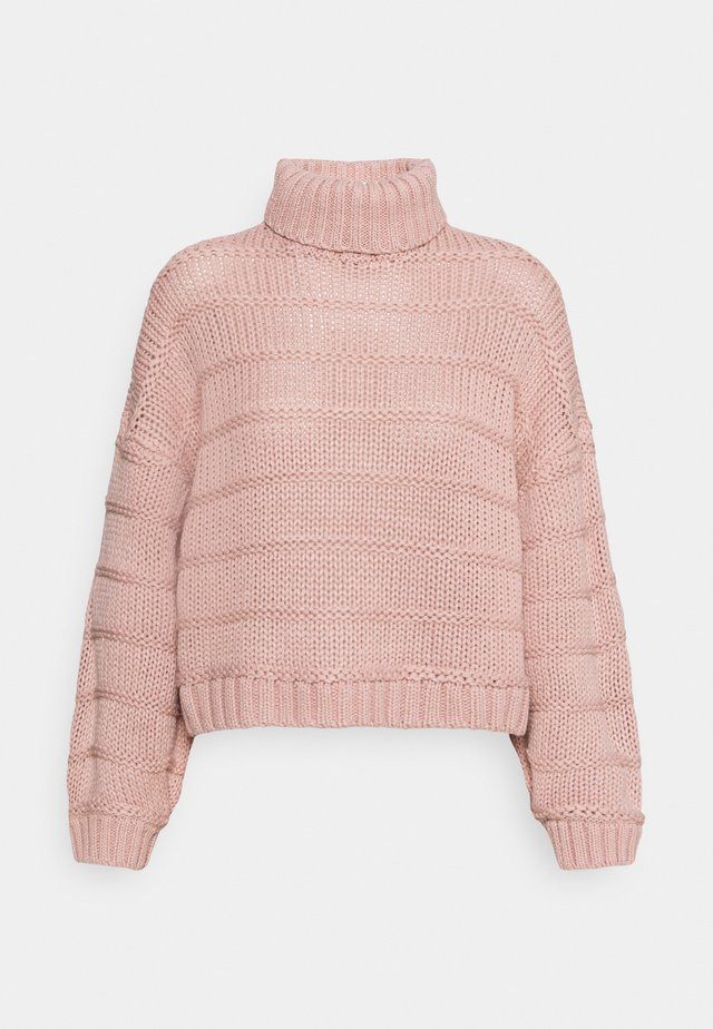 NMWENDY HIGH NECK - Sweter - misty rose