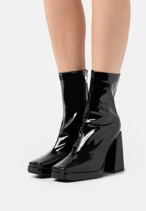 WIDE FIT VISTA - Platform ankle boots - black